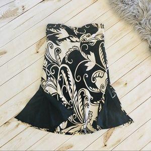 MNG Mango | Large Paisley Print Little Black Dress